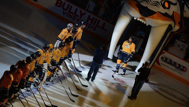 The Predators will have four preseason games at Bridgestone Arena this fall.