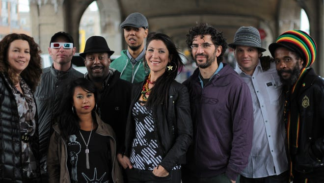 Kirsty Rock, center, and Easy Star All-Stars will perform Saturday at Vinyl Music Hall.