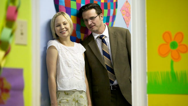 """Adelaide Clemens, left, and Aden Young are shown in the series """"Rectify,"""" which returned for a second season on Thursday."""
