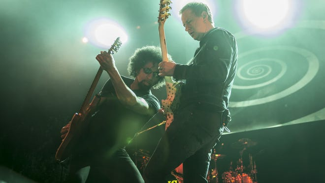William DuVall and Jerry Cantrell of Alice in Chains perform at Alexandra Palace   in London in 2013.