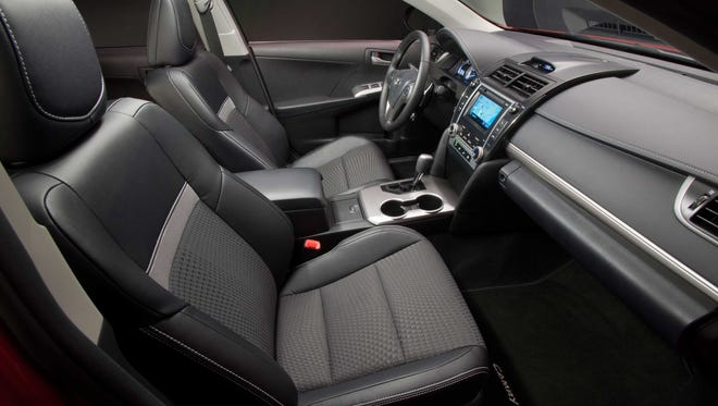 Interior of the current generation Toyota Camry.