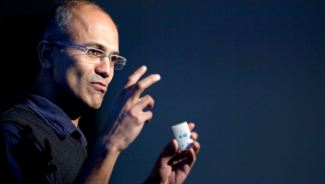 Satya Nadella at a Microsoft Search Summit event in San Francisco in 2010.