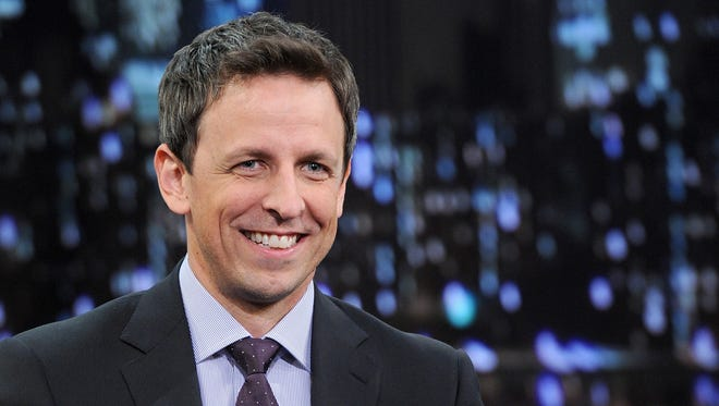 "Seth Meyers took over the ""Late Night"" franchise Monday."
