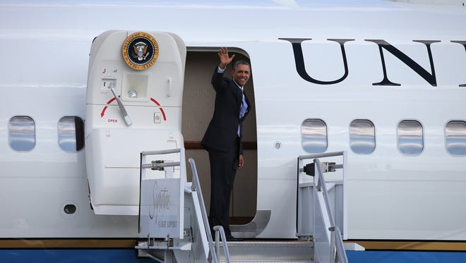 President Obama will take off Sunday for a tour of Europe and Saudi Arabia that will be dominated by talk of Ukraine and Syria.