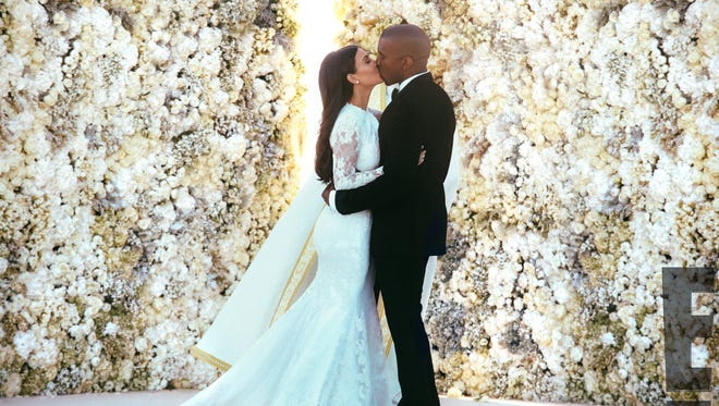 Kim Kardashian and Kanye West wed in Florence, Italy, on May 24, 2014.
