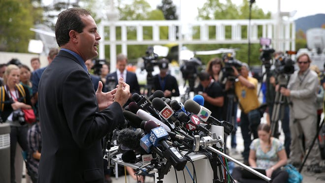 Marin County Sheriff Lt. Keith Boyd speaks during a press conference following the autopsy of actor and comedian Robin Williams on Aug. 12 in San Rafael, Calif.