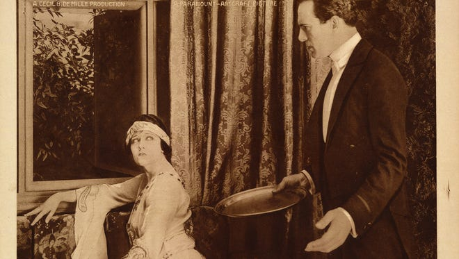This undated handout image provided by the Library of Congress shows a scene from Cecil B. DeMille'ssilent film 'Male and Female.'