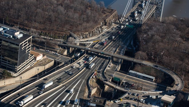 The New Jersey side of the George Washington Bridge, which connects Fort Lee, NJ, and New York City, is seen on Jan. 9, 2014,  in Fort Lee, N.J.