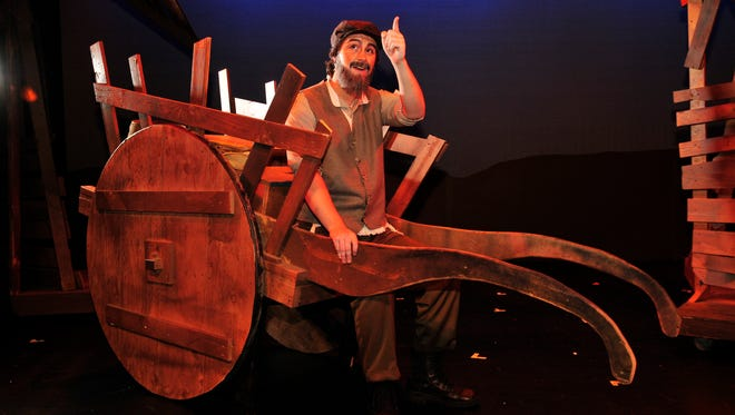 """Jack O'Leary stars as Tevye in the TCOE production of """"Fiddler on the Roof."""""""