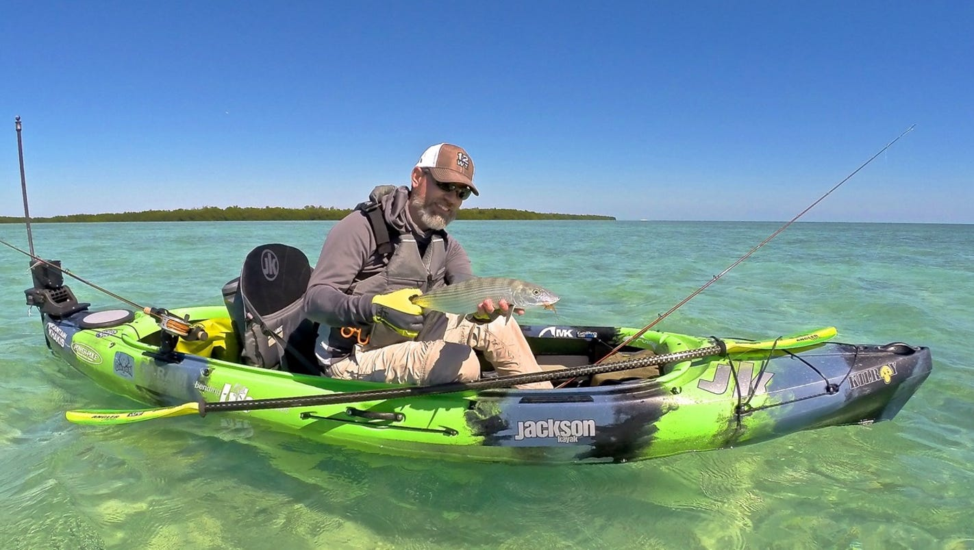 Kayak fishing big thrills on a small budget for Fishing from a kayak