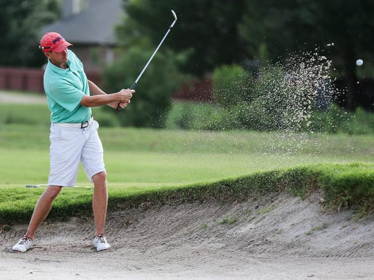 Murray Carson (in a file shot from last year) teamed with Kevin Crane to shoot a 66 and take a one-shot lead after the first round of the 2018 Bentwood Country Club men's partnership on Thursday.