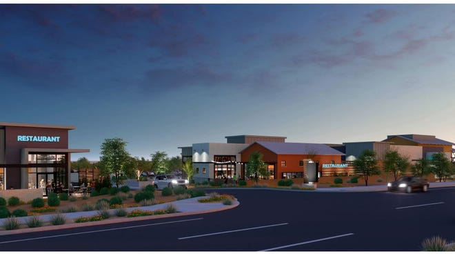 This new business plaza called 83 Marketplace is under construction inthe southeast corner of 83rd Avenue andHappy Valley Road in Peoria.