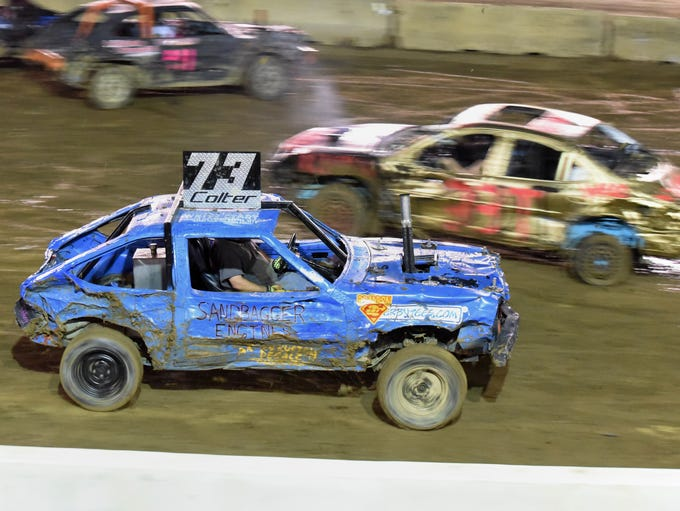 More than 100 drivers competed in the demolition derby