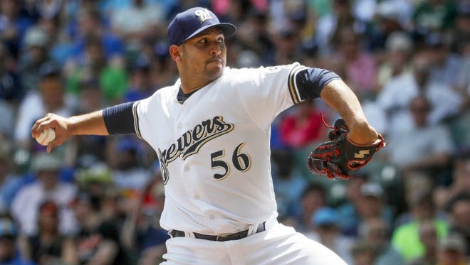 Paolo Espino has posted a 6.22 ERA in six appearances for Milwaukee, the most recent of them a two-inning relief stint July 2.