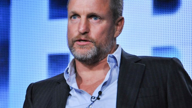 Woody Harrelson on stage during the True Detective panel discussion at the HBO portion of the 2014 Winter Television Critics Association tour at the Langham Hotel on Thursday, Jan. 9, 2014 in Pasadena, Calif. (Photo by Richard Shotwell Invision/AP)