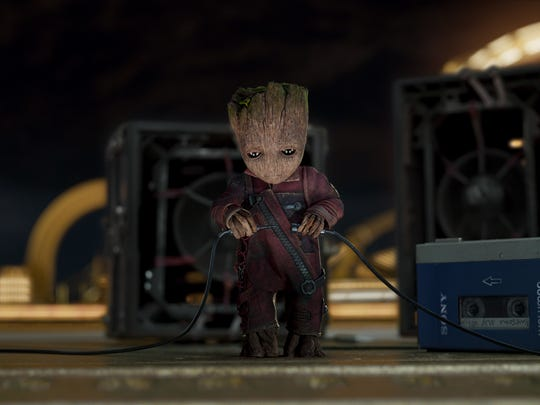 "What is Groot up to in ""Guardians of the Galaxy Vol."