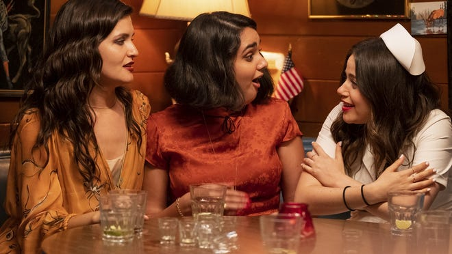 """From left, Phillipa Soo, Geraldine Viswanathan and Molly Gordon appear in  """"The Broken Hearts Gallery."""""""