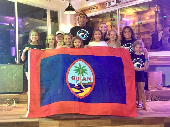 Team Guam repping at the Aliya Wahine Cup 2017 in Baler,