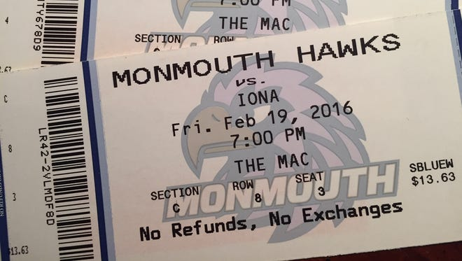 The market for Monmouth University basketball tickets remains strong on the internet.