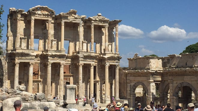 Tom and Teri Littler saw many ancient structures during their 10-day tour, including Ephesus in Turkey.