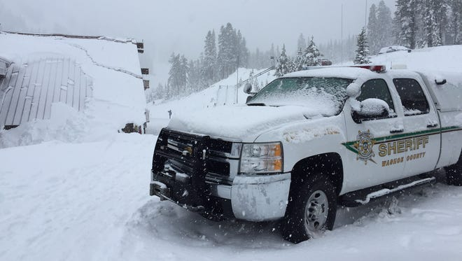 Search and rescue members are searching for a missing skier at Mt. Rose Ski Tahoe on Saturday, Dec. 10, 2016.