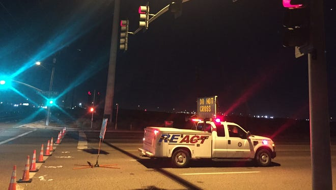 Road closures were expected to divert drivers away from the scene of a fatal three-vehicle crash near Mesa through most of the evening of Dec. 13, 2016.