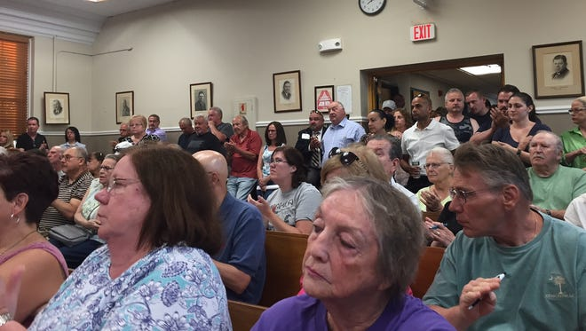 It was a standing-room-only crowd at Monday's Sayreville Borough Council meeting in which residents voiced their concerns about a proposed affordable housing plan.