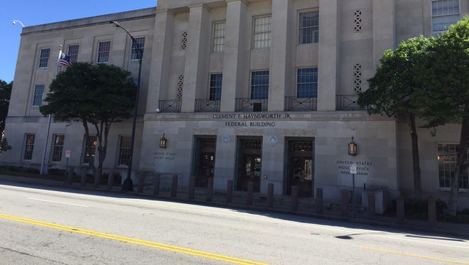Federal courthouse in downtown Greenville