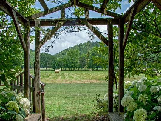 Roughly 25 years ago, singer-songwriter John Hiatt bought Covered Bridge Farm. This is the view from the front gate looking out.