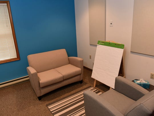 A room, photographed Friday, April 29, 2016, is available at Over the Rainbow  child advocacy center for a forensic interviewer to talk to a child.