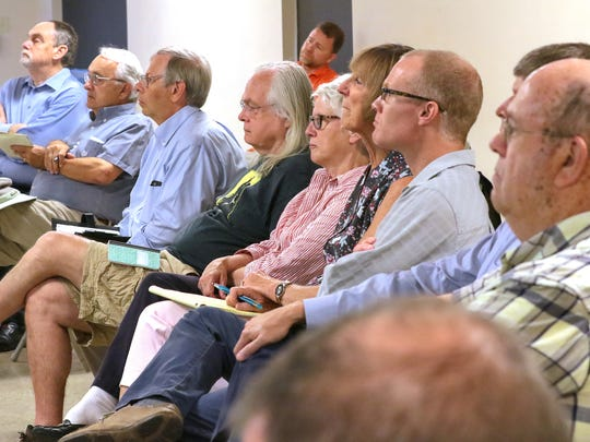 Residents listen during the Joint City-University Advisory Board meeting at Clemson City Hall on Monday.