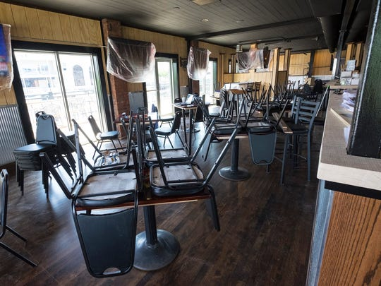The upstairs dining room at Wings Etc. in Port Huron. The restaurant plans to be open in early August.