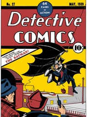 The cover of Batman's first appearance in Detective