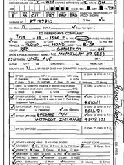 Ticket issued by Ray Tensing to Eric Wade on July 19, 2015, two hours before Tensing fatally shot Sam DuBose. It is the last ticket Tensing wrote.
