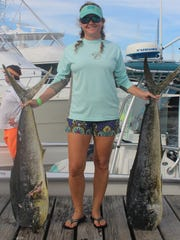 Cherith Fenton is both the Offshore Grand Champion and the Top Woman Angler in this year's Deep Sea Roundup.