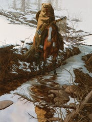 """""""Spirit of the Grizzly"""" by Bev Doolittle showcases"""