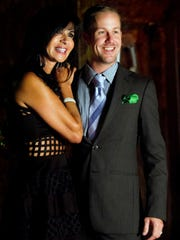 FILE: Jennifer Conery, left, and Steve Leonard at a reception for the reality television show, Paradise Coast Wives, at ITZ Studios in Naples last year. Conery and Leonard are featured on the show.