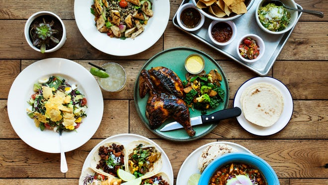 A variety of dishes at Gallo Blanco.