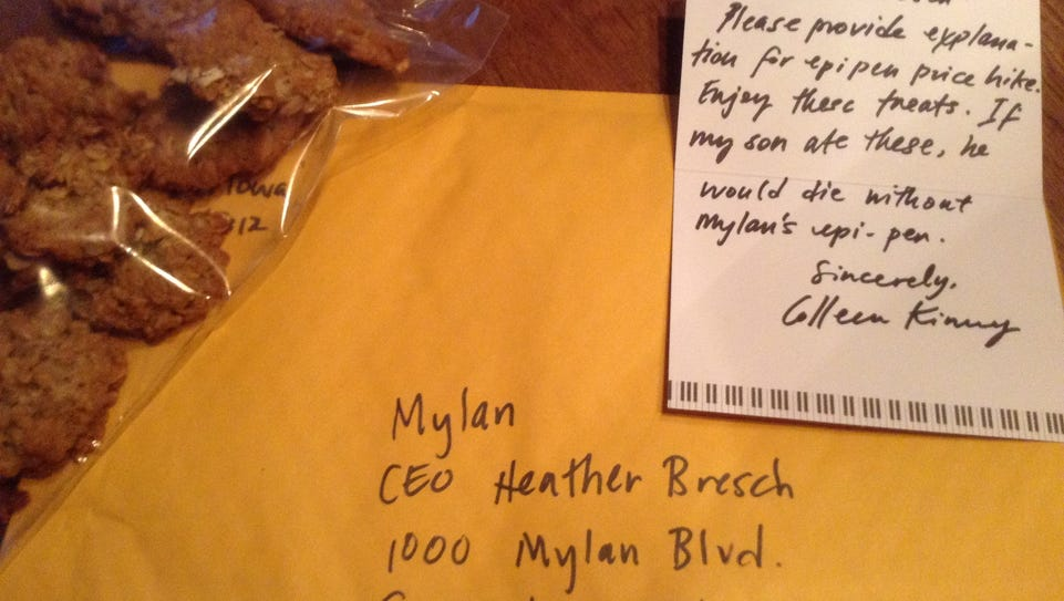 Des Moines mom Colleen Kinney sent a package of peanut