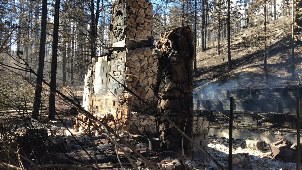 Some of the damage caused by the Little Valley Fire