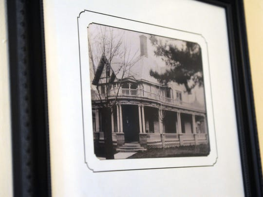 Old photo of the Law-Baker Funeral Home in Utica. The location has been a funeral home since 1939 and owned by the Baker family since 1988.