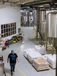 The production area of Perrin Brewing Company in Comstock