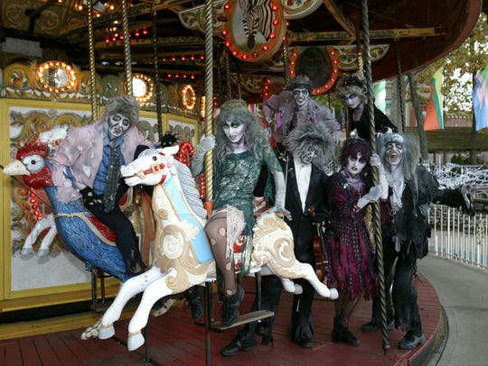 Carousel, Six Flags Great Adventure. Some Halloween