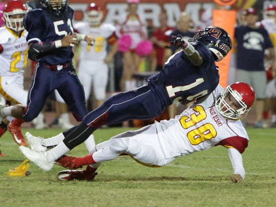 The La Quinta varsity football team lost Friday's home conference game against rival school Palm Desert  by a score of 24-17.