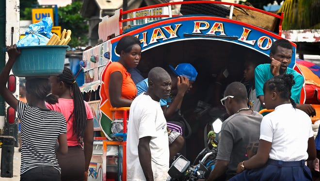 In congested Port-au-Prince, many rely on crowded taxis for transportation.