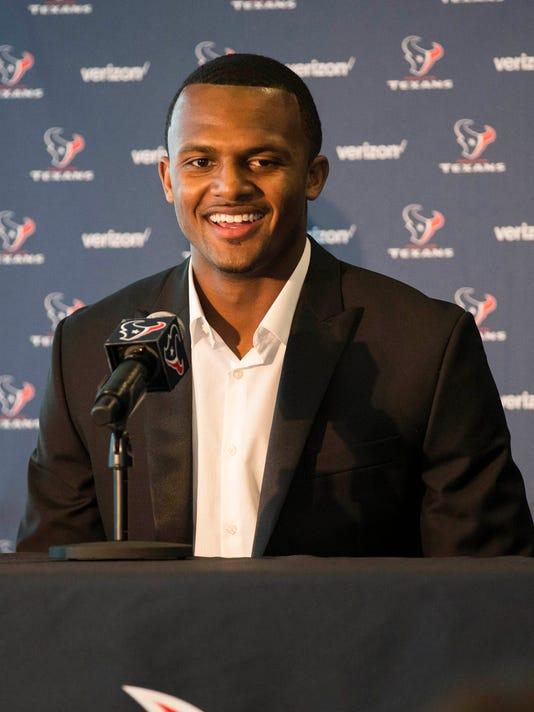 USP NFL: HOUSTON TEXANS-DESHAUN WATSON PRESS CONFE S FBN USA TX