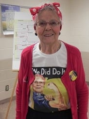 """Rosie the Riveter"" Jane Biestek, a Montana native,"