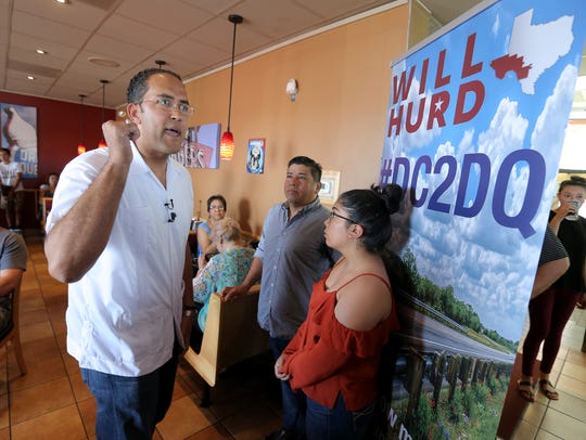 U.S. Rep. Will Hurd, R-Texas, holds the first of twenty