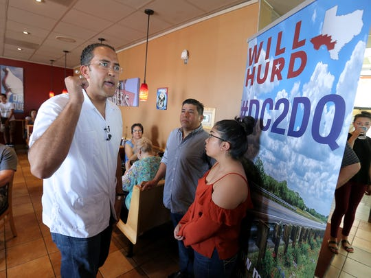 U.S. Rep. Will Hurd, R-Texas, holds the first of twenty town hall meetings across his district at a Dairy Queen in El Paso's lower valley. Hurd is calling his six-day tour DC to DQ.