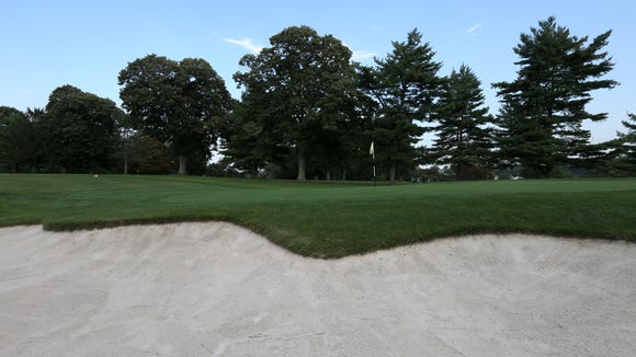 The 18th hole at Dunwoodie Golf Course in Yonkers Aug.